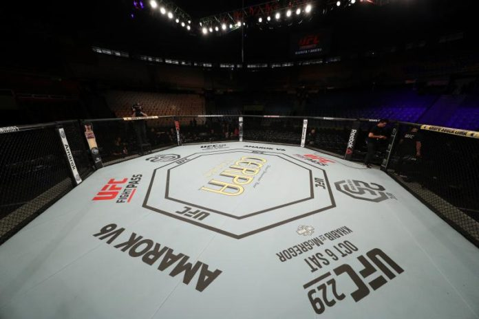 El octágono de UFC, cortesía de Getty Images.