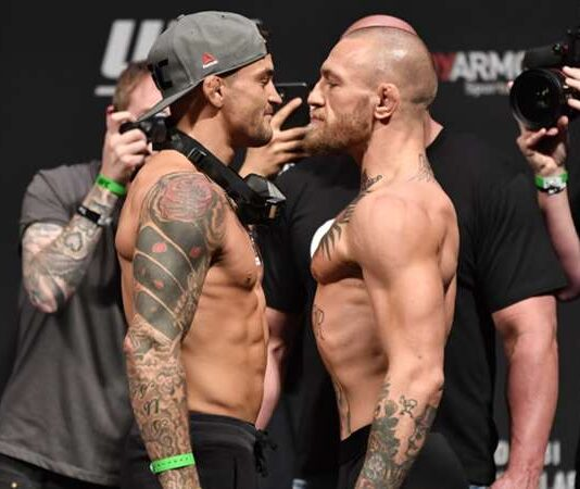 Dustin Poirier y Conor McGregor